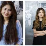 2 Bạn gái thay đổi kiểu tóc và trang phục khiến mọi người không nhận ra