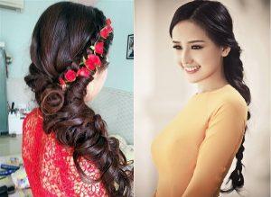 9 kiểu tóc cực đẹp dành cho cô dâu mang áo dài