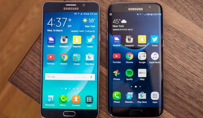 So sánh 2 siêu phẩm Samsung Galaxy Note 5 và S7 2