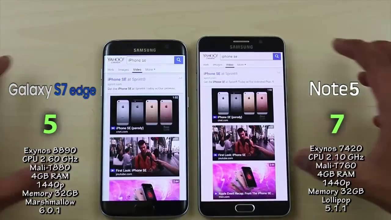 So sánh 2 siêu phẩm Samsung Galaxy Note 5 và S7 3